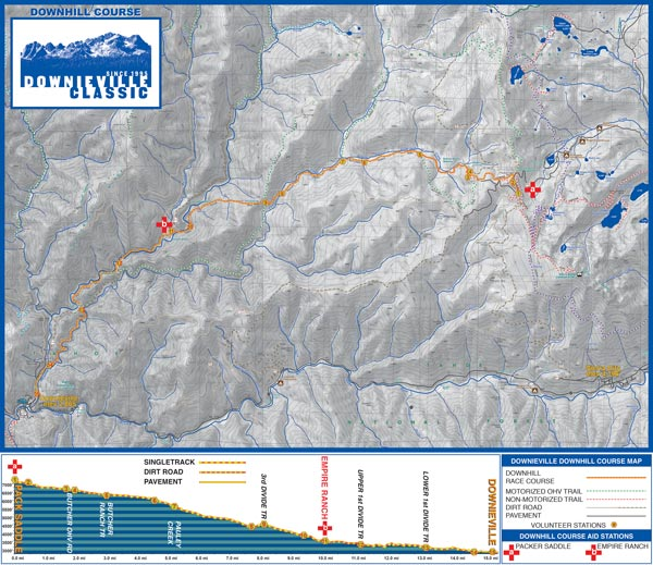 Downieville Classic Cross Country Map
